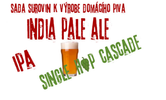 Sada surovin India Pale Ale - single hop Cascade